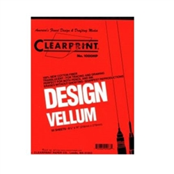 "1000H Clearprint 81/2""x 11""  Pad of 50,Clearprint Vellum,Clearprint Pads,Gridded Pads,1000H Clearprint 81/2 x 11 Pad of 50,Chartpak 10001410,Plain Vellum Pads,720362029685"