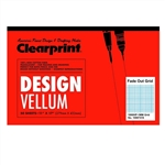 Clearprint 1000H Design Vellum Pad with Printed Fade-Out 1mm Grid 16 lb 11 x 17 Inches 50 Sheets, Translucent White (10007416)11 x 17 in. ...,ClearPrint,Package of 100 Sheets,11 in. x 17 in,Clearprint Vellum,Clearprint Sheets,1000H Clearpr
