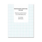 "Clearprint Drafting Vellum 1000H-4 18x24"" 100 pk 4x4 Grid 10204522,Package of 100 Sheets,18 x 24 in. ...,ClearPrint , Package of 100 Sheets,Clearprint Vellum,Clearprint Sheets,1000H Clearprint 18 x 24,CPR-10211522,1mm grid"