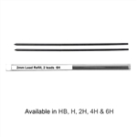 2 mm Graphite H Leads for Technical Drafting Lead-Holder, Staedtler Mars Carbon 2mm Leads,Staedtler 2mm Graphite Lead,Koh-I-Noor 2mm Graphite Lead,Graphite Leads/Refills,Alvin Constant Drawing Pencil Lead 2mm Graphite,2mm graphite drawing lead
