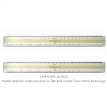 "4-Bevel Metric/Imperial Conversion Scale 12"", 4-Bevel Metric/Imperial Conversion Scale 12"",C7512,WG 7512,Metric/Imperial Conversion Scale,Take off scale,Metric Imperial take off scale,Cheater Scale,7512 scale,cheater scale,W + G c7412,engraved scale"