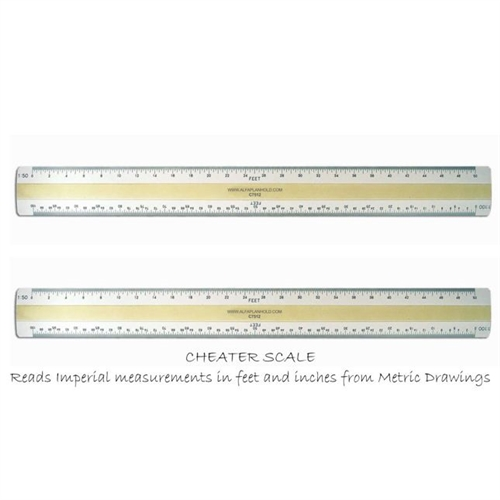 4 Bevel Metric Imperial Conversion Scale 12 Quot Called C7512