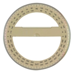 "Protractor 6"", 360 degree tinted,Protractor Full Circle 6"".Alvin 6"" Circular Protractor: Clear Plastic 6"",Protractor model P260,Chartpak Full Circle Protractor --CHA6360,6"" Protractor, Full Circle - D4715F"