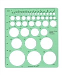"Staedtler-Mars Combo Circle Stencil Template, staedtler 977-110,TD1204 Alvin Circle Master Template 45 Circles 1/16 - 2 1/4"" in Size,Template Combo Circle Master,ircle template ruler, large circle template,circle template drafting,Circle master 1"