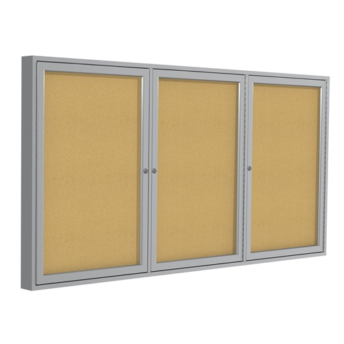 Pa34896k 48 Quot X96 Quot 3 Door Satin Aluminum Frame Enclosed