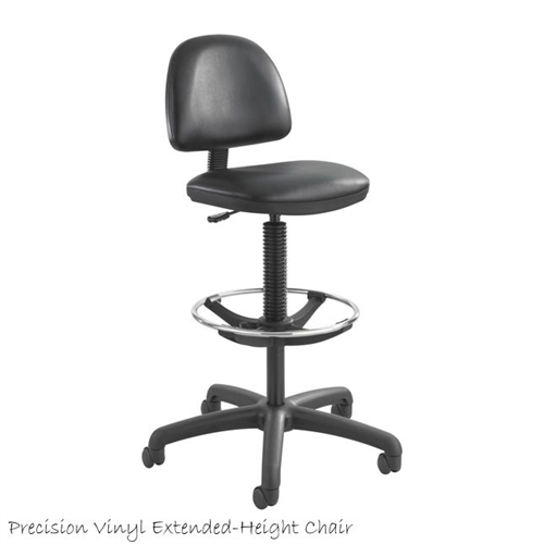 Safco Precision Extended Height Swivel Stool W Adjustable