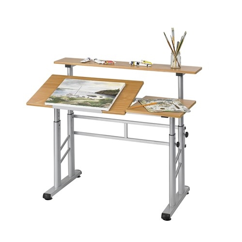 Safco Split Level Drafting Table Height Adjustable