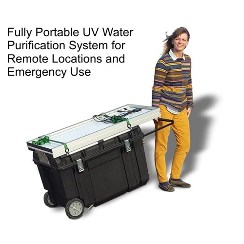 Solar Water Desalination System For Data Acquisition System : Portable solar powered uv water purification system