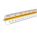 Metric Hi Impact Plastic Scholastic Surveyors Triangular Scale 30cm ,Metric Hi Impact Plastic Scholastic Mechanical Engineering & Architect Triangular Scale 30cm,C352500,Mars Triangular Scale 98718