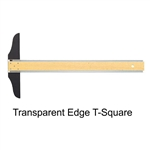 "Wood T-Square - 24"",Alvin Wooden T-Squares,Westcott C-THRU 24"" Fixed Head Wooden T-Square,Drafting T-Square,Staedtler T square"