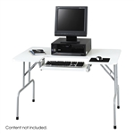"Safco Folding Computer Table 48"" x 30"" Gray 1935GRfolding laptop table,foldable computer table,folding computer stand,plastic folding computer table,safco folding computer table,wooden computer table,metal computer table,folding computer armoire"