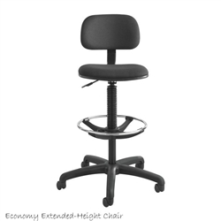 Safco Extended-height Drafting Stool SAF-3390BL,SAF-3390BL,3390 image,Safco Chairs,Safco Extended-height Drafting Stool - 3390BL,chairs & seating,safco 3390bl,1015565028,218298665,saf3390bl,saf 3390bl,saf3390bl,safco drafting chair