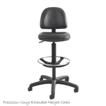 Safco 3406BL,Safco Precision Extended Height Swivel Stool w/Adjustable Footring,Black Vinyl SAF-3406BL,Safco Chair,Safco Drafting chair,3406BL. UPC Code: 073555340624,073555340624,Safeco Product