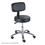 Safco Lab Stool Pneumatic with Back Black 3430BL,Safco Lab Stool Pneumatic with Back Black 3430BL,adjustable lab stool,wooden lab stool,science lab stool,height lab stool,lab chair,pneumatic lift stool,lab stools with backs