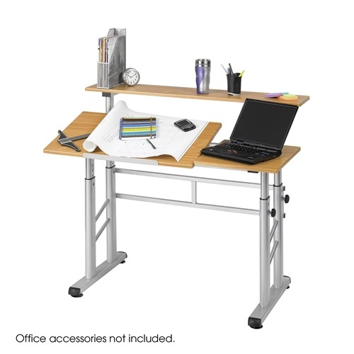 Safco Height Adjustable Split Level Drafting Table 3965mo