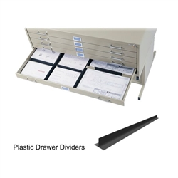 Safco Drawer Dividers For Flat Files Black 4980
