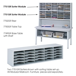 E-Z Sort® Sorter Module  - 7751GRR,Safco 7751GR - Safco E-Z Sort module,mail room table