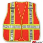 5-point tear away vest,3M Orange High Visibility 5-Point Tear Away Traffic Vest,Safety Vest with two pockets,One size fits most safety vest,3M Orange High Visibility 5-Point Tear Away Traffic Vest,Orange High Visibility Traffic Vest,High Visibility