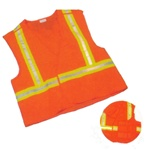 Orange High Visibility Survey Vest