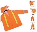 Orange High Visibility 3pc Rain Suite