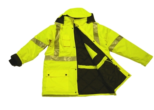 High Visibility Winter Jacket Parka Water Resistant Parka