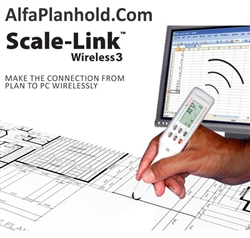 Scalex Scale-Link Wireless 3 - 02002,Wireless measuring device,Scalex 02002,Scale Master Classic,Plan Measurer,Scale Master Classic Digital Plan Measurer,plan measuring,Scalex Wireless PlanWheels,ScaleLink Wireless,Planwheel Wireless