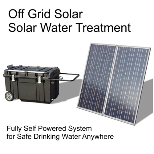 Portable Solar Powered Uv Water Purification System